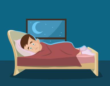 nespavost muž v posteli