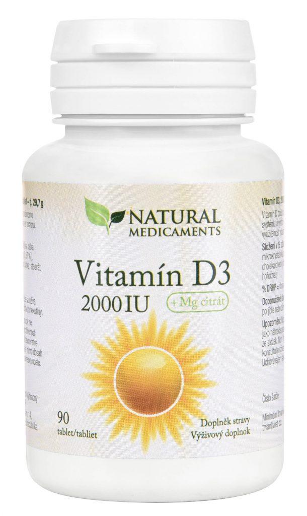 vitamín D - přírodní léky na spaní